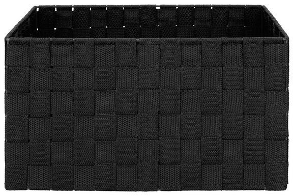 Košara Charlotte - črna, kovina/umetna masa (33,5/23,5/18cm) - Mömax modern living
