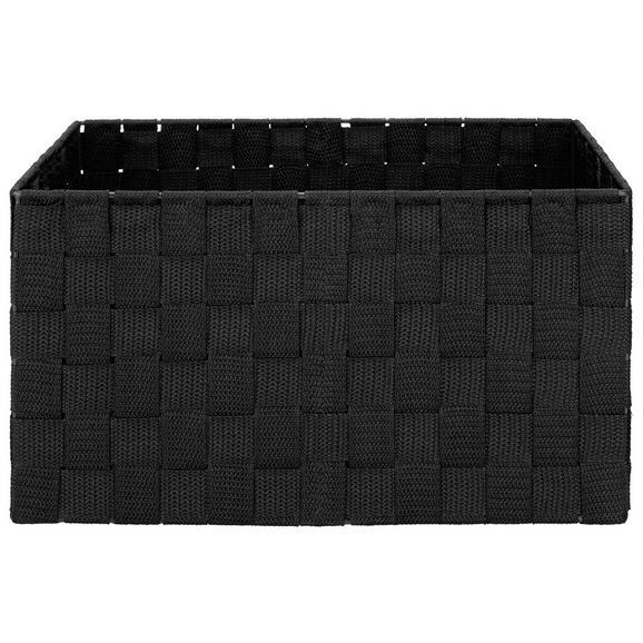 Košara Charlotte - M - črna, kovina/umetna masa (33,5/23,5/18cm) - Mömax modern living