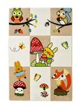 Webteppich Animal Bunt 120x170cm - Beige/Gelb, Textil (120/170cm) - Mömax modern living