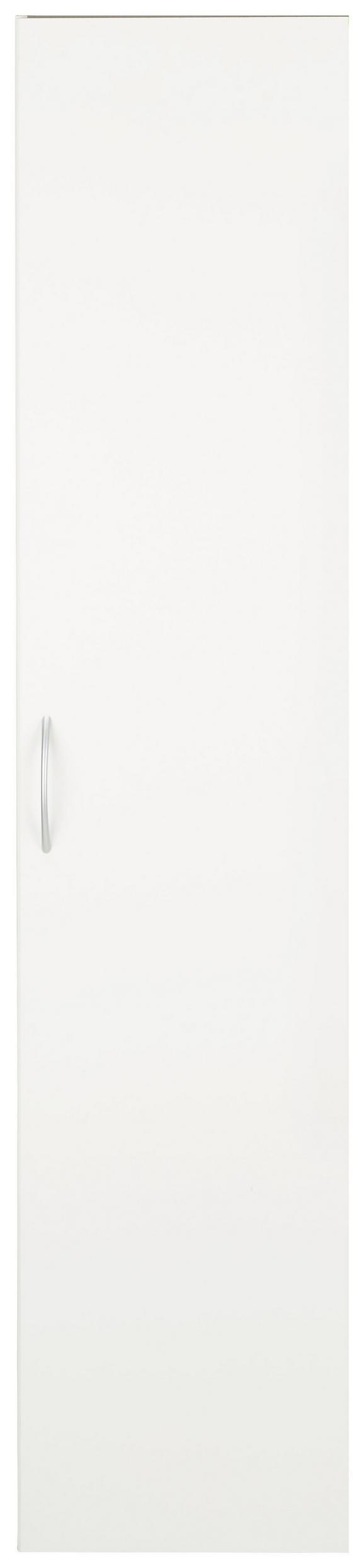 Večnamenska Omara Mrk - aluminij/bela, umetna masa/leseni material (40/185/40cm)