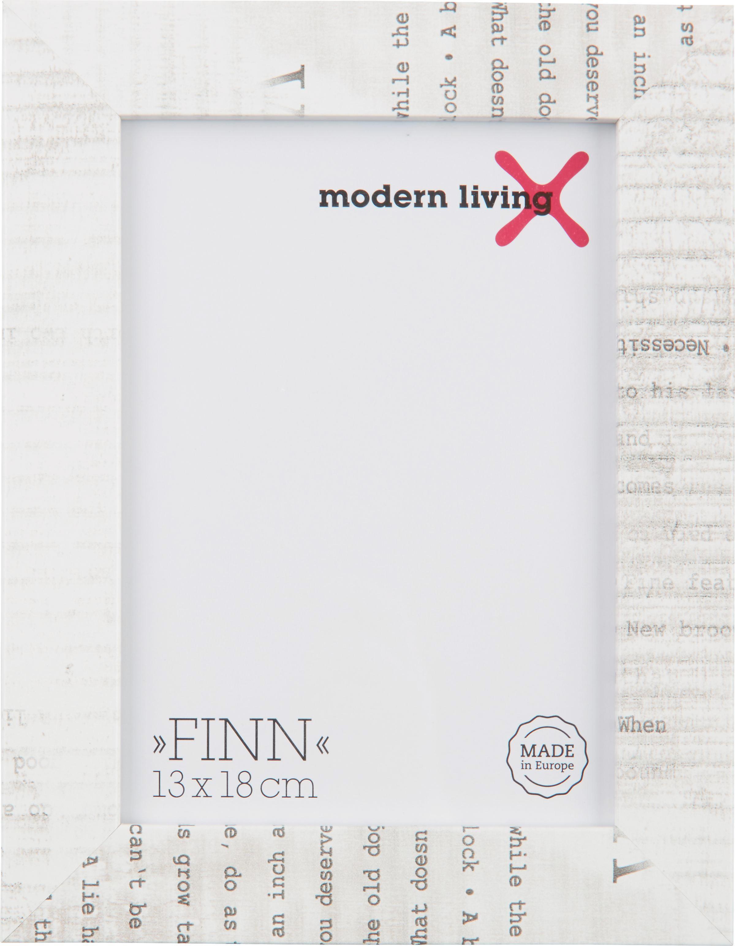 Bilderrahmen Finn in Weiß, ca. 13x18cm - Weiß, KONVENTIONELL, Glas/Holzwerkstoff (17,5/22,5/1,6cm) - MÖMAX modern living