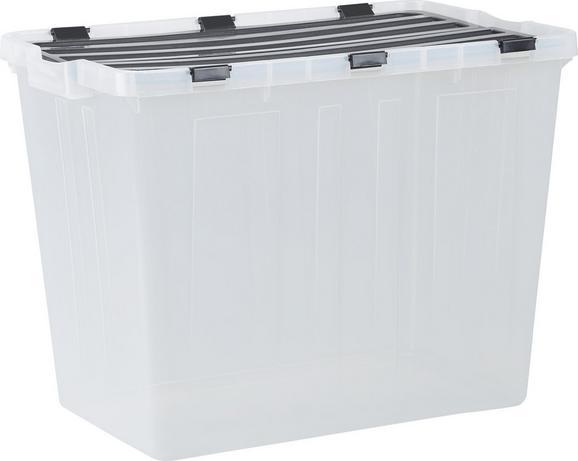 Škatla S Pokrovom Flip - prosojna, umetna masa (58/41/37cm) - Mömax modern living