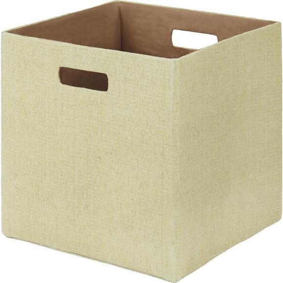 Zložljiv Zaboj Bobby - bež, Moderno, papir/umetna masa (33/33/32cm) - Mömax modern living