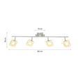 Led-reflektor Nanni - krom, Romantika, kovina/umetna masa (80/18cm) - Premium Living