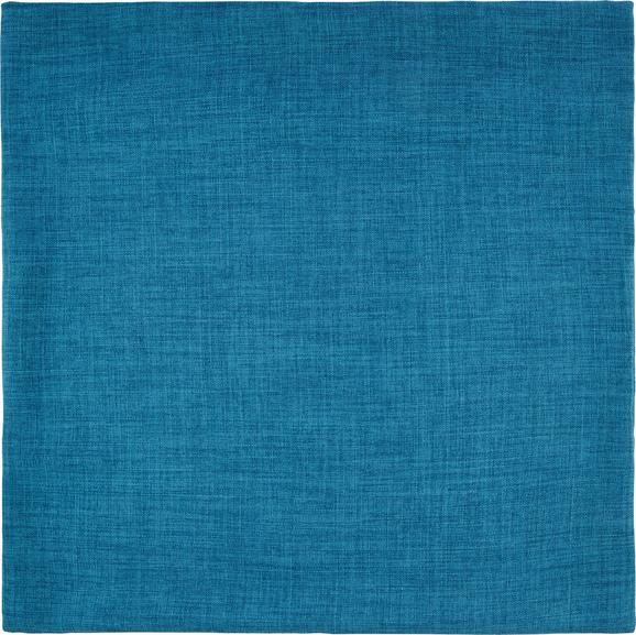 Párnahuzat Leinenoptik - Türkiz, konvencionális, Textil (60/60cm) - Mömax modern living