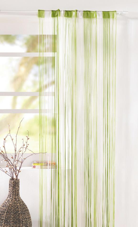 Fadenstore String, ca. 90x245cm - Hellgrün/Weiß, Textil (90/245cm) - PREMIUM LIVING