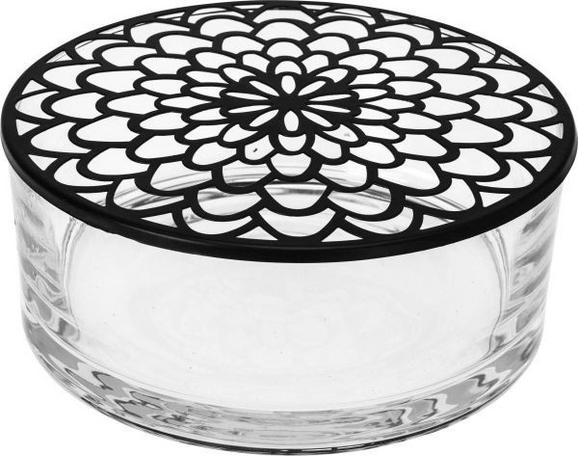Dekodose Vivo aus Glas - Transparent/Schwarz, MODERN, Glas/Metall (20,2/8/20,2cm) - MÖMAX modern living
