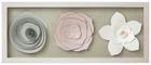 Fali Dekoráció Flower - Színes/Fehér, romantikus/Landhaus, Papír/Műanyag (57,15/22,85/3,54cm)