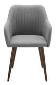Stuhl Nicola - Dunkelbraun/Grau, MODERN, Holz/Textil (58/82,5/45cm) - Modern Living