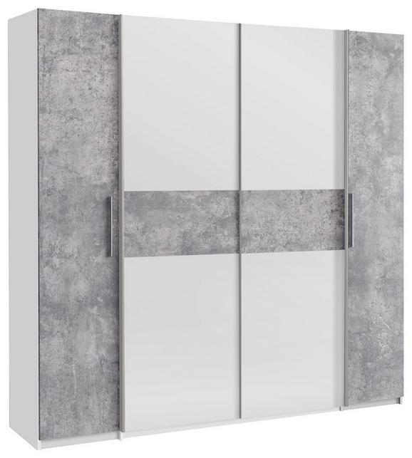 Kombinirana Omara Calido - aluminij/bela, Konvencionalno, kovina/umetna masa (201/191/62cm) - Modern Living