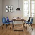 Stuhl Lio - Petrol/Schwarz, MODERN, Holz/Textil (43/86/55cm) - Modern Living