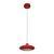 Pendelleuchte Leah mit LED - Rot, MODERN, Glas/Kunststoff (21/21/180cm) - Bessagi Home