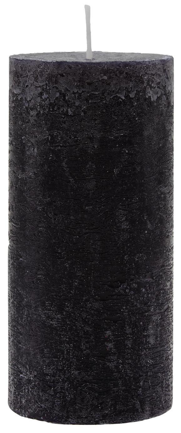 Sveča Lia - črna, Moderno (6,8/15cm) - Mömax modern living
