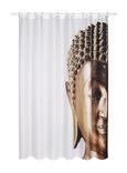Duschvorhang Buddha Gold/Weiß 180x200cm - Goldfarben, LIFESTYLE, Textil (180/200cm) - Mömax modern living