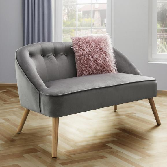 Bank Sophia - Grau, MODERN, Holz/Textil (126,5/77/75cm) - Mömax modern living