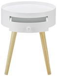 Couchtisch Damian mit Schublade ca.38x45cm - Weiß/Pinienfarben, MODERN, Holz (38/45cm) - Modern Living