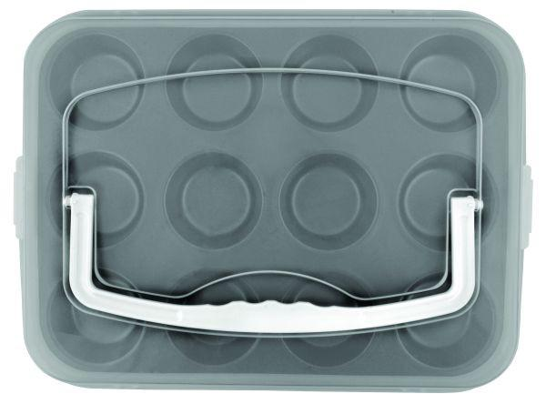 Muffin Forma Larissa - fekete/fehér, műanyag/fém (36/27/7,5cm) - MÖMAX modern living
