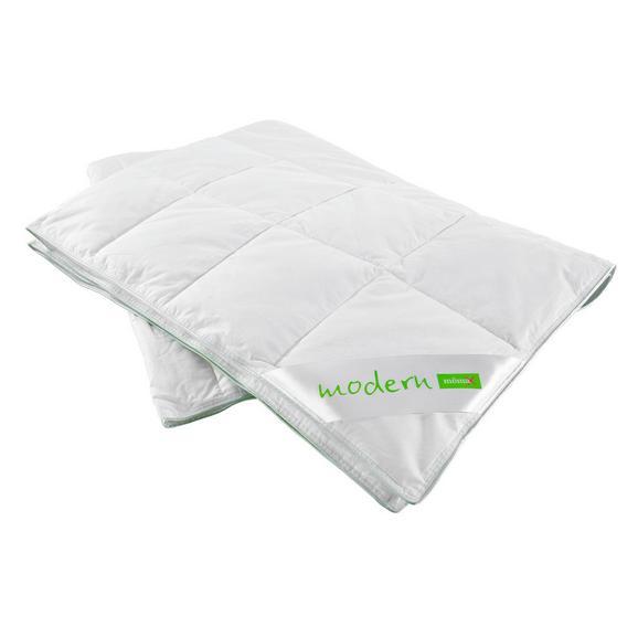 Plapumă Matlasată  În Carouri Modern Leicht - alb, textil (140/200cm) - Nadana