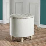 Hocker Rosalie inkl. Abnehmbarem Deckel - Champagner, MODERN, Holz/Textil (50/50cm) - Mömax modern living