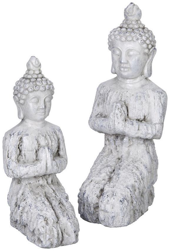 Buddha Kerstin Silberfarben/beton - Silberfarben, Keramik (32/16/12cm)