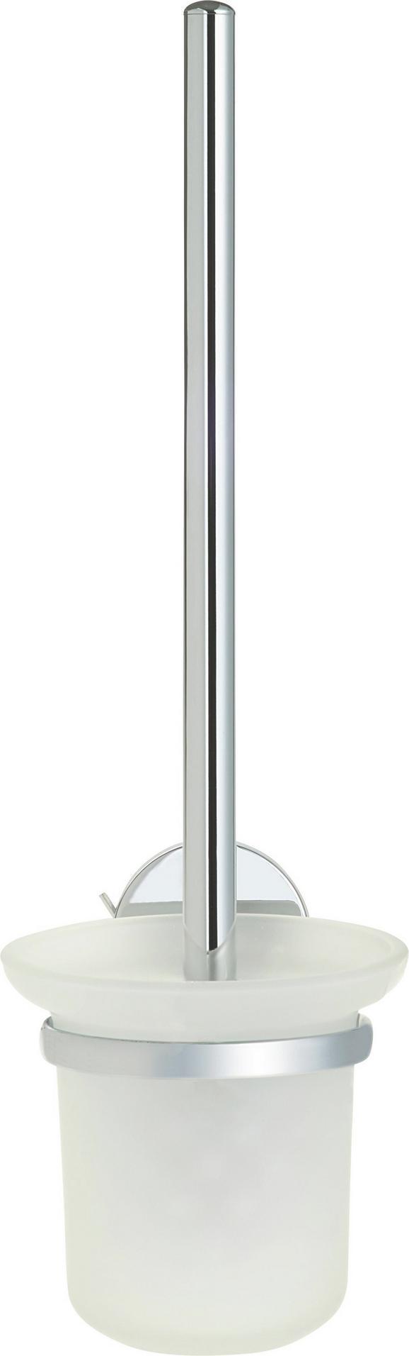WC-Bürstengarnitur Vision Chromfarben - Chromfarben, Glas/Kunststoff (11/38/15cm) - Mömax modern living