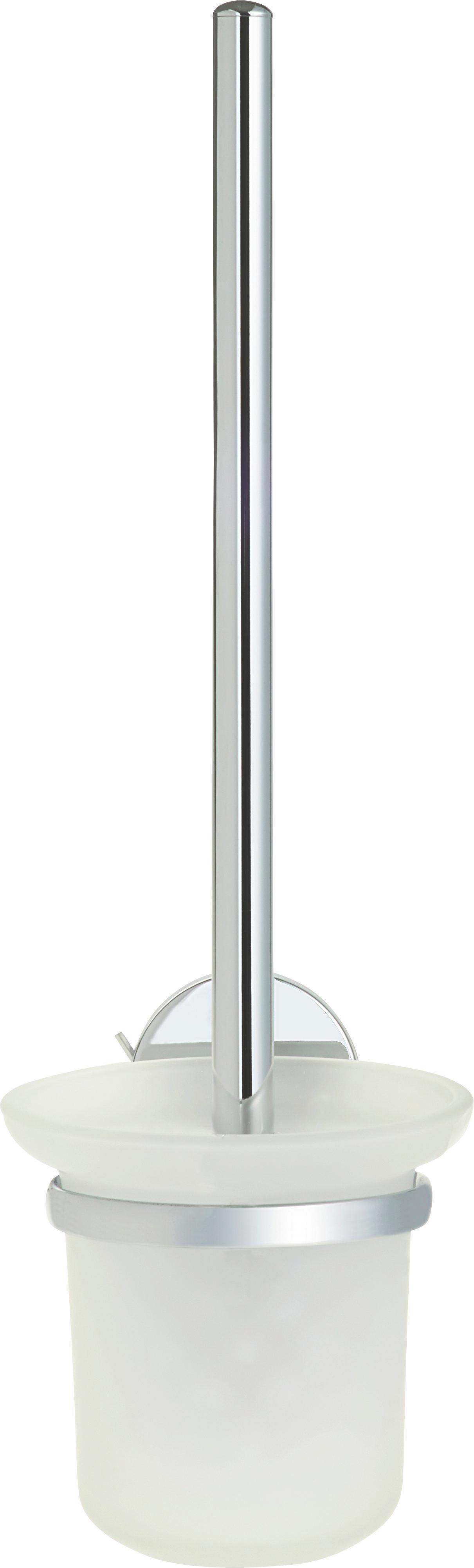 WC-Bürstengarnitur Vision in Chrom aus Glas - Chromfarben, Glas/Kunststoff (11/38/15cm) - MÖMAX modern living