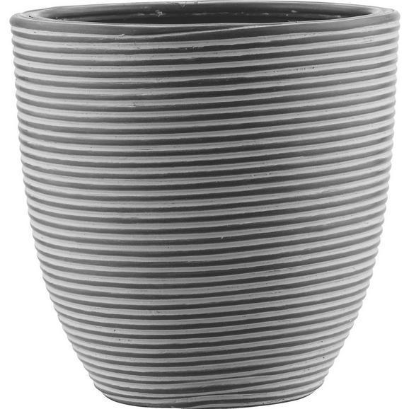 Cvetlični Lonček Marlene - M - črna, Trendi, umetna masa (21/21cm) - Mömax modern living
