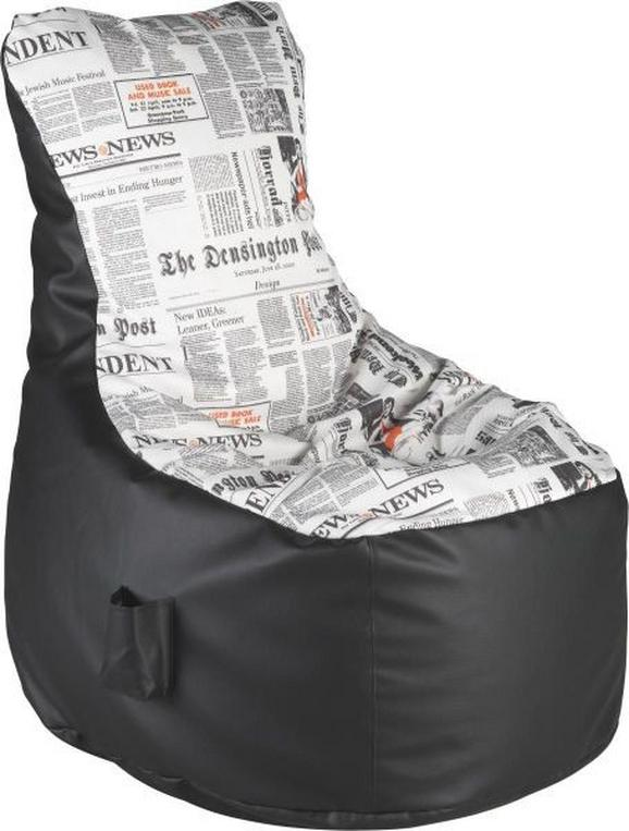 Sitzsack in Schwarz - Schwarz/Weiß, KONVENTIONELL, Textil (85/100/85cm) - MODERN LIVING