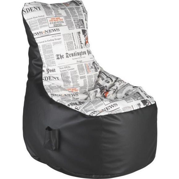 Ülőzsák Cortona - Fehér/Fekete, Textil (85/100/85cm)