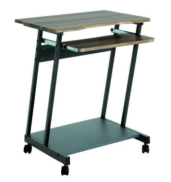 Számítógépasztal Print - diófa színű, modern, műanyag/fa (60/75/48cm)