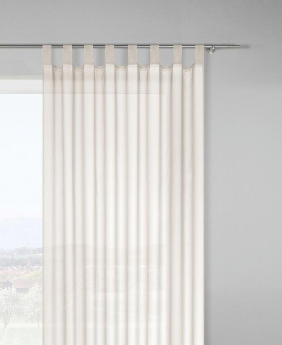 Schlaufenvorhang Hanna in Natur, ca. 140x245cm - Naturfarben, Textil (140/245cm) - Based