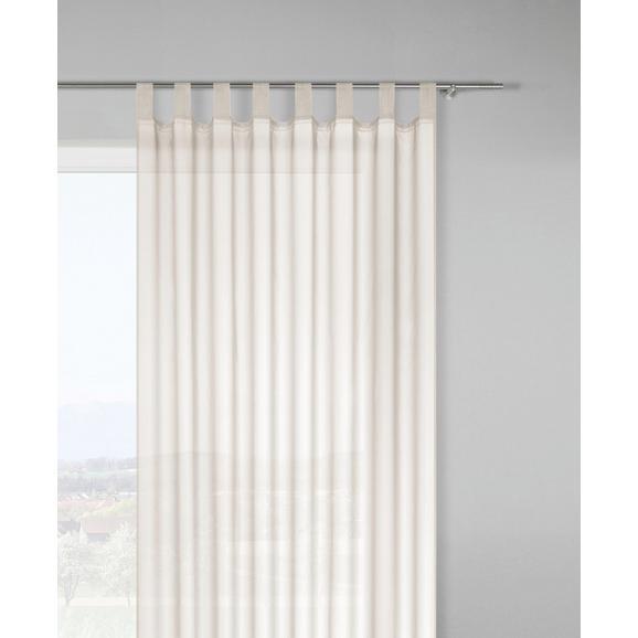 Zavesa Z Zankami Hanna - naravna, tekstil (140/245cm) - Based