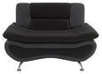 Fotelja Atlantis - siva/boje kroma, Modern, tekstil (116/81/89cm)