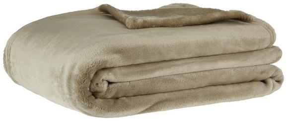 Decke Deluxe in Hellbraun - Hellbraun, KONVENTIONELL, Textil (150/200cm) - Mömax modern living
