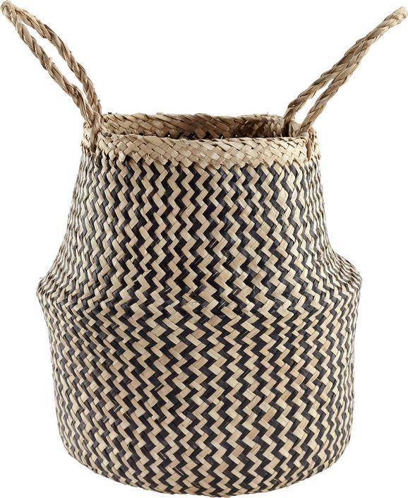 Cvetlični Lonček Miriam - naravna/črna, umetna masa/ostali naravni materiali (25/30cm) - Mömax modern living
