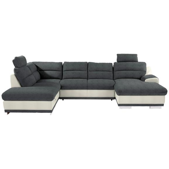 Sjedeća Garnitura Seaside - bijela/siva, Konventionell, tekstil/metal (218/334/165cm) - Modern Living