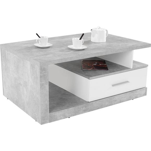 Măsuță Iguan - alb/gri, Modern, compozit lemnos (110/45/67cm)