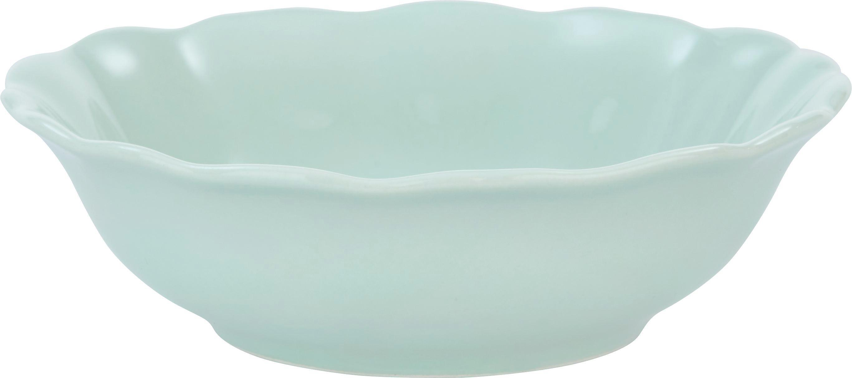 Schale Pauline in Mintgrün - Mintgrün, ROMANTIK / LANDHAUS, Keramik (15cm) - ZANDIARA