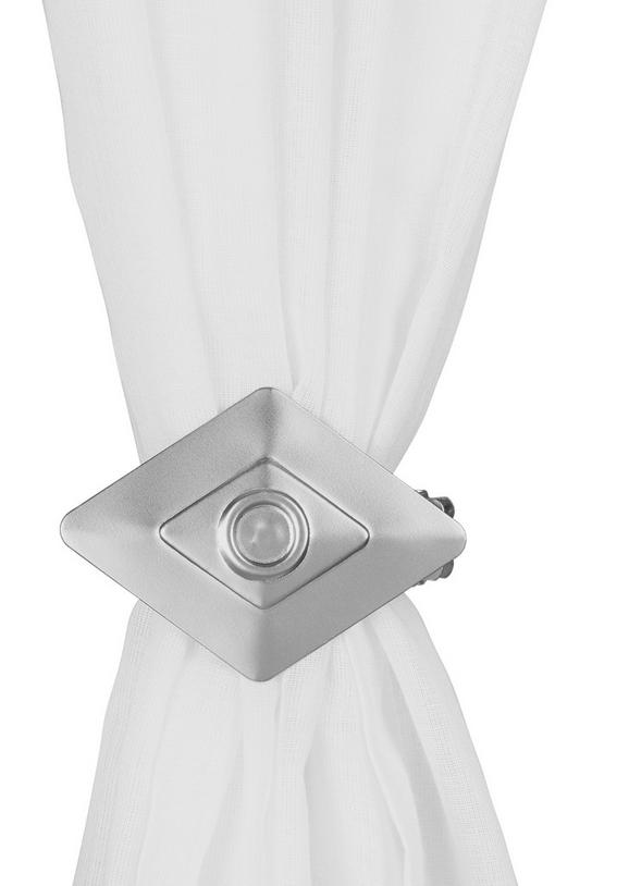 Dekospange Quadrat Nickel Matt - Silberfarben, MODERN, Metall (10/17/5cm) - Mömax modern living