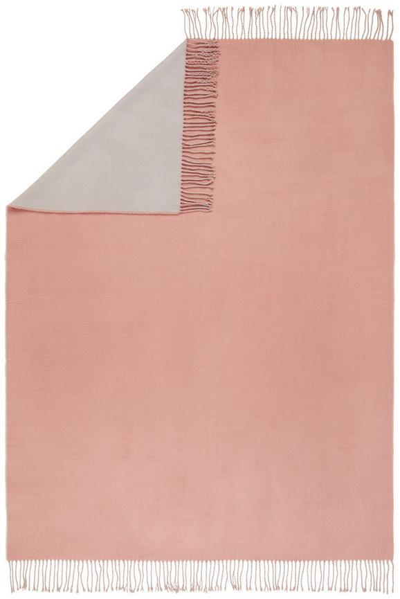 Decke Livia Wende ca. 130x170cm - Hellgrau/Rosa, ROMANTIK / LANDHAUS, Textil (130/170cm) - Mömax modern living