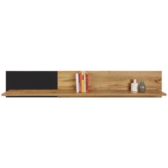 Wandboard in Eichefarben - Eichefarben/Schwarz, MODERN, Holzwerkstoff (180/30/22cm) - Modern Living