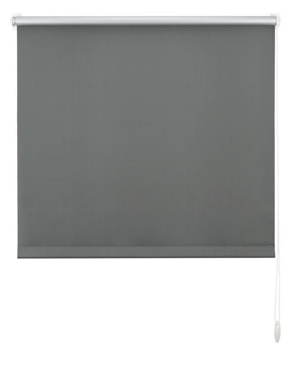 Klemmrollo Thermo, ca. 90x210cm - Schieferfarben, Textil (90/210cm) - Premium Living