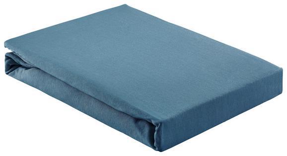 Spannleintuch Basic Dunkelblau 180x200 cm - Dunkelblau, Textil (180/200cm) - Mömax modern living