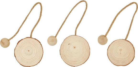 Raffhalter Wood mit Magnetverschluss - Braun, MODERN, Holz (8cm) - MÖMAX modern living