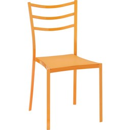 Gartenstuhl Luigi - Orange, KONVENTIONELL, Kunststoff/Metall (40/81,5/46,5cm) - MODERN LIVING