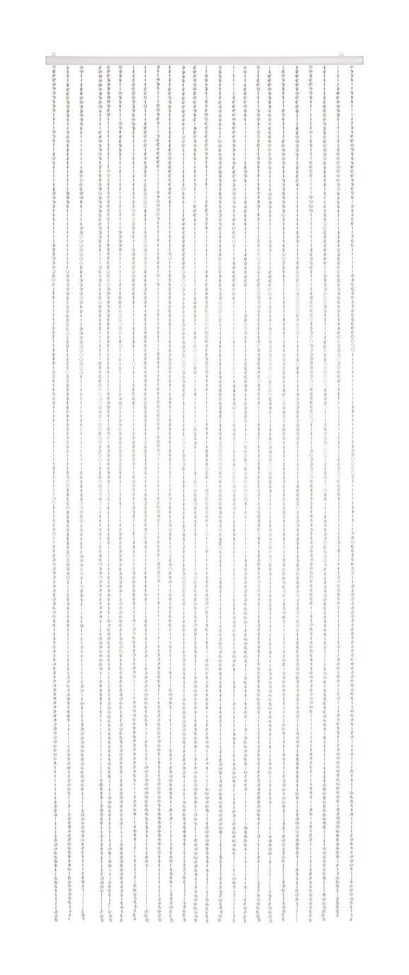 Nitasta Zavesa Diamond - bela, Trendi, umetna masa (90/245cm) - Mömax modern living