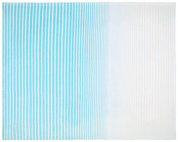 Decke Stacy, ca. 150x200cm - Türkis/Weiß, MODERN, Textil (150/200cm) - Mömax modern living