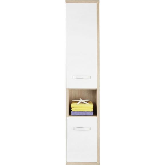 Dulap Înalt Ducato - stejar Sonoma/alb, plastic/lemn (38/185.2/34cm)