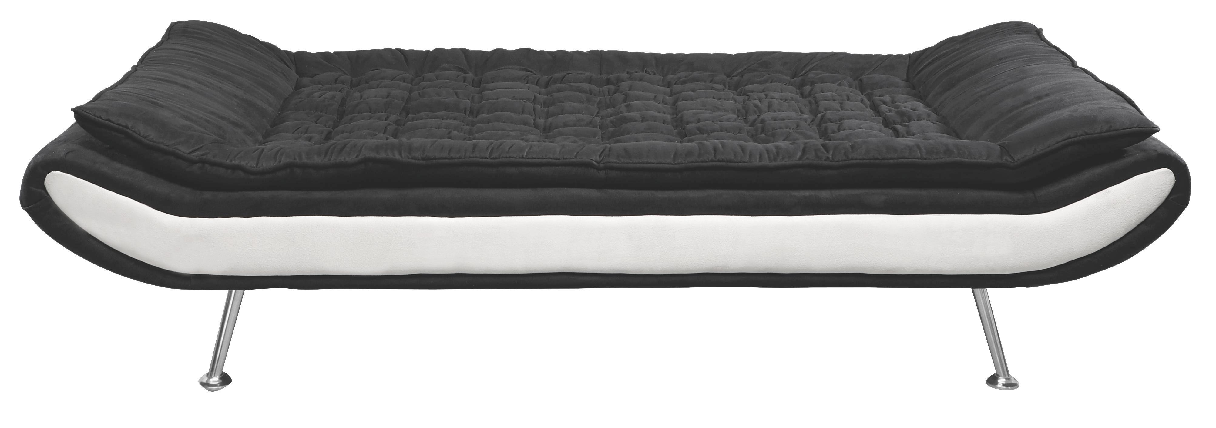 Kanapéágy Cloud - fekete/fehér, textil/fa (196/98/92cm) - MÖMAX modern living