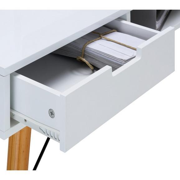 Schreibtisch In Weiss Braun Massiv